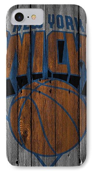 New York Knicks Wood Fence IPhone Case by Joe Hamilton