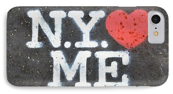 New York Loves Me Stencil IPhone Case