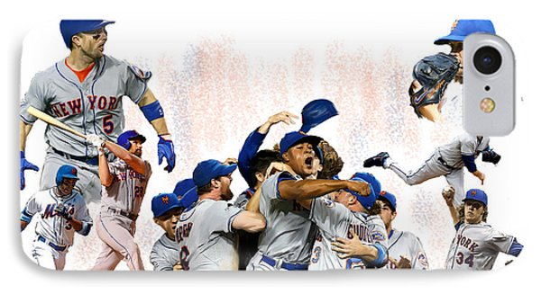 New York Mets iPhone 7 Case - New York Mets 2015  Metropolitan Champions by Iconic Images Art Gallery David Pucciarelli
