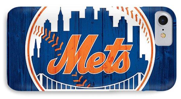 New York Mets iPhone 7 Case - New York Mets Barn Door by Dan Sproul