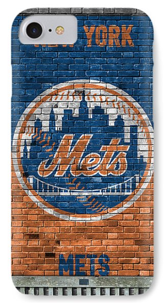 New York Mets iPhone 7 Case - New York Mets Brick Wall by Joe Hamilton