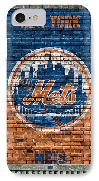 New York Mets Brick Wall IPhone Case by Joe Hamilton