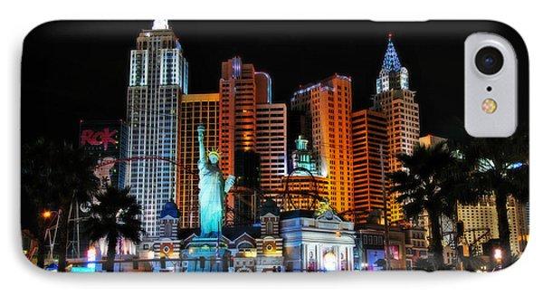 New York New York Hotel And Casino Phone Case by Eddie Yerkish