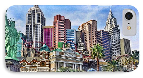 New York, New York In Las Vegas IPhone Case by Garland Johnson