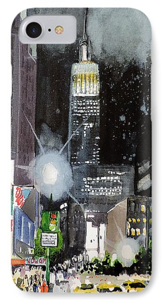 New York Night IPhone Case by Tom Riggs
