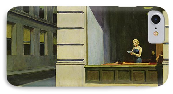New York Office, 1962 IPhone Case by Edward Hopper