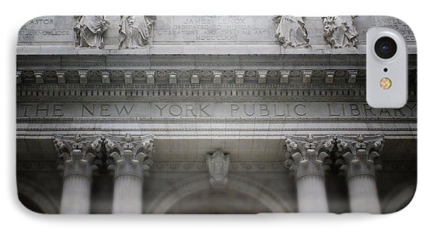 IPhone Case featuring the mixed media New York Public Library- Art By Linda Woods by Linda Woods