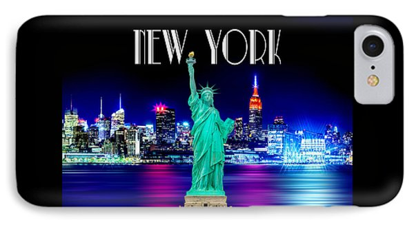 New York Shines IPhone 7 Case by Az Jackson