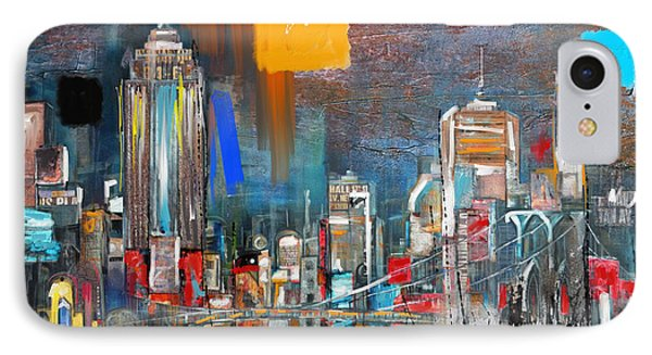 New York Skyline 198 1 IPhone Case by Mawra Tahreem