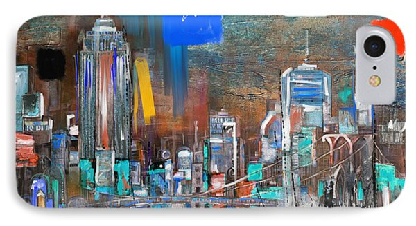 New York Skyline 198 3 IPhone Case by Mawra Tahreem