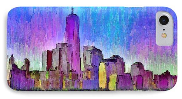 New York Skyline 2 - Da IPhone Case by Leonardo Digenio