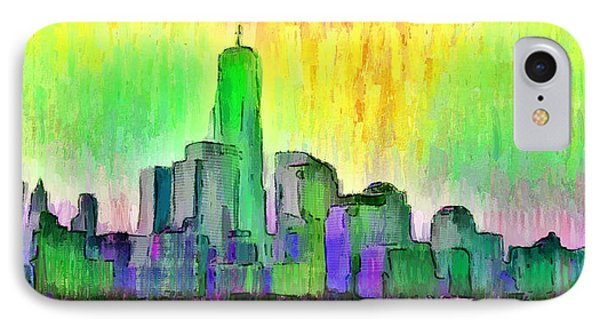 New York Skyline 5 - Da IPhone Case by Leonardo Digenio