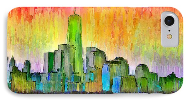 New York Skyline 6 - Pa IPhone Case by Leonardo Digenio