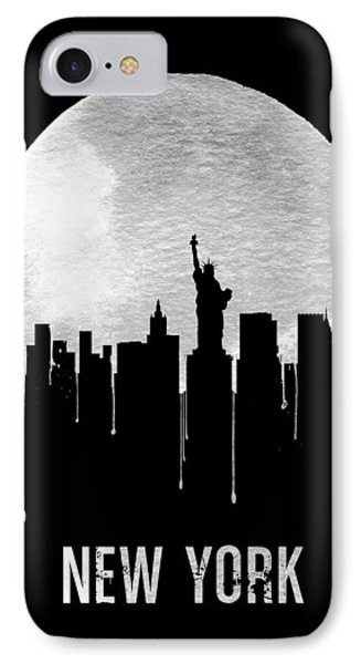 New York Skyline Black IPhone Case by Naxart Studio