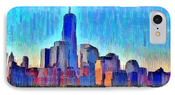 New York Skyline - Da IPhone Case by Leonardo Digenio