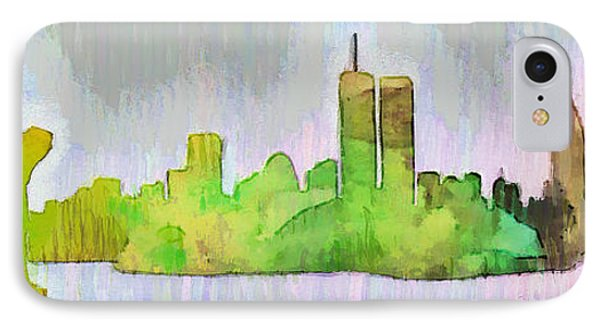 New York Skyline Old Shapes 2 - Da IPhone Case by Leonardo Digenio