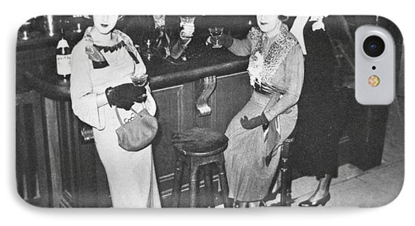 New York Society Women Enjoy Their First Legal Drink After The Repeal Of The Volstead Act In 1933 IPhone Case by American School