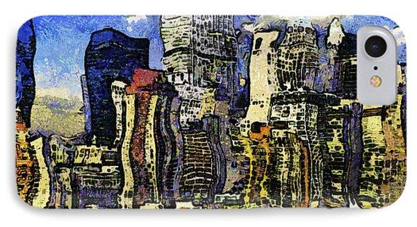 New York Stary Night Expressionism IPhone Case by Georgiana Romanovna