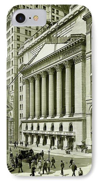 New York Stock Exchange Under Construction 1903 IPhone Case