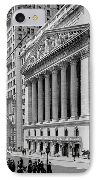 New York Stock Exchange Circa 1904 IPhone Case by Jon Neidert