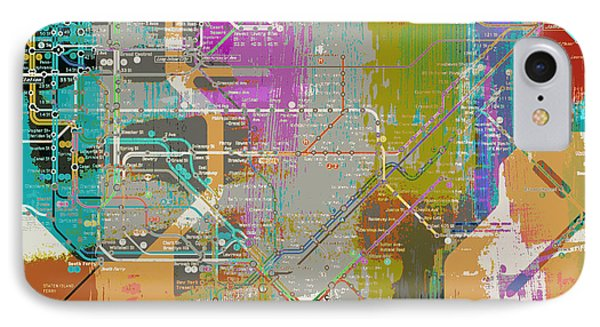 New York Subway Map IPhone Case by Brandi Fitzgerald