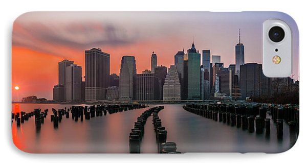 IPhone Case featuring the photograph New York Sunset by RC Pics