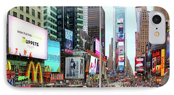 New York Times Square Panorama IPhone Case by Kasia Bitner