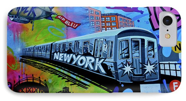 New York Train IPhone Case by Joan Reese