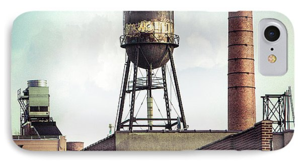 IPhone Case featuring the photograph New York Water Towers 19 - Urban Industrial Art Photography by Gary Heller