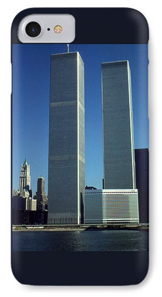 New York World Trade Center Before 911 - Architecture IPhone Case by Art America Gallery Peter Potter