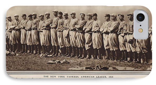 IPhone Case featuring the photograph New York Yankees 1916 by Daniel Hagerman
