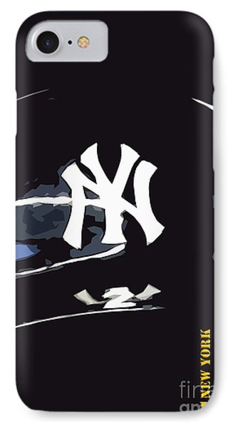 New York Yankees Black IPhone Case by Pablo Franchi