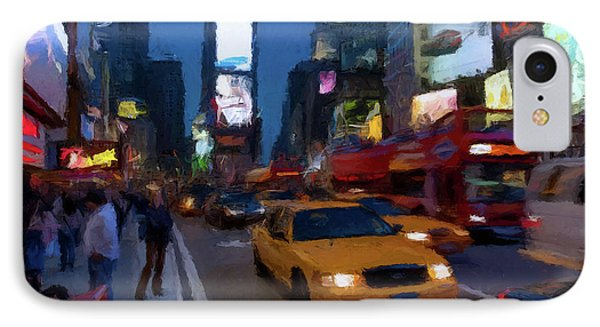 New York Yellow Cab IPhone Case by David Dehner