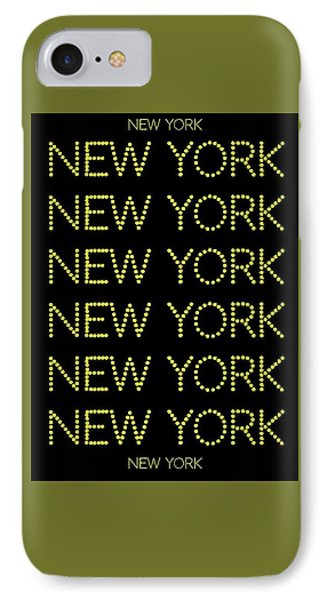 New York - Yellow Large On Black Background IPhone Case