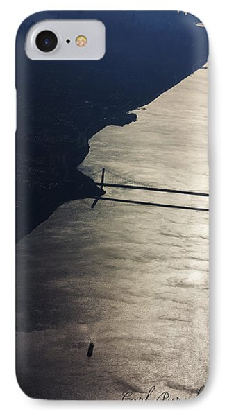 New York's East River IPhone Case by Carl Purcell