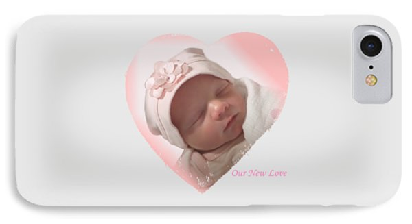 Newborn Pink Heart IPhone Case by Ellen O'Reilly