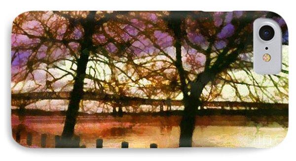 Newburgh Beacon Bridge Purple Skies Phone Case by Janine Riley