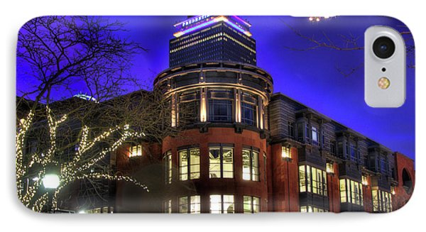 IPhone Case featuring the photograph Newbury Street And The Prudential - Back Bay - Boston by Joann Vitali