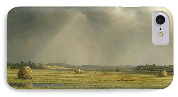 Newburyport Meadows  IPhone Case by Martin Johnson Heade