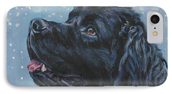 Newfoundland In Snow IPhone Case by Lee Ann Shepard