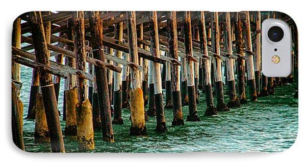 Newport Beach Pier Close Up Phone Case by Mariola Bitner