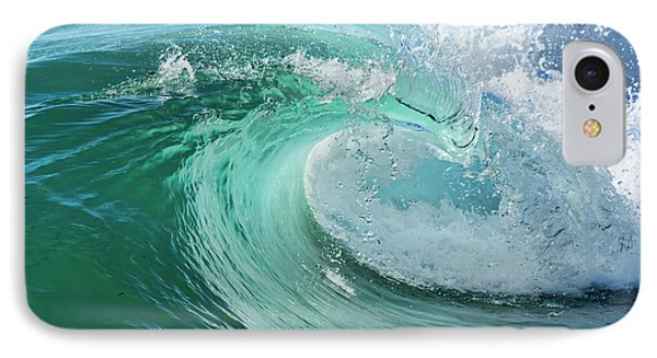 IPhone Case featuring the photograph Newport Beach Wave Curl by Eddie Yerkish