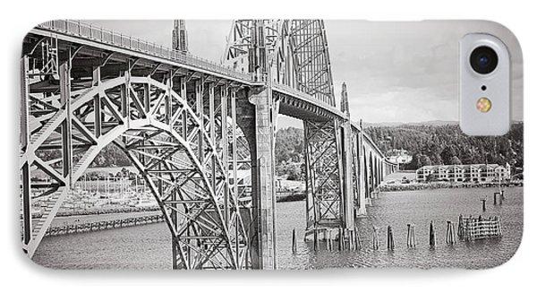 Newport Bridge In Black And White IPhone Case