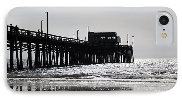 Newport Pier IPhone Case by Paul Velgos