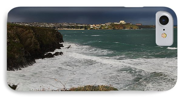 IPhone Case featuring the photograph Newquay Squalls On Horizon by Nicholas Burningham