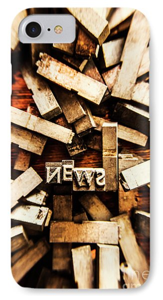 News In Press Typeset IPhone Case by Jorgo Photography - Wall Art Gallery