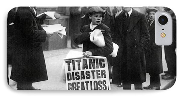 Newsboy Ned Parfett Announcing The Sinking Of The Titanic IPhone Case