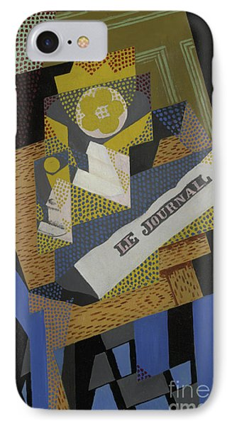 Newspaper And Fruit Dish, 1916 IPhone Case by Juan Gris