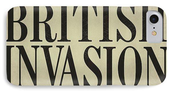Newspaper Headline British Invasion IPhone Case