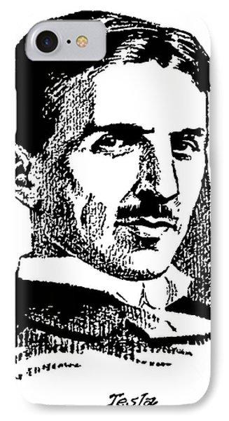 IPhone Case featuring the digital art Newspaper Nikola Tesla  by Daniel Hagerman